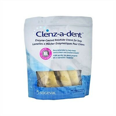 Clenz-A-Dent Rawhide Chews Extra Large for Dogs Over 51 lbs. - 15 Chews