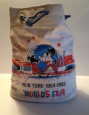 1964/65 New York World's Fair Official Drawstring Tote Bag (Excellent condition)