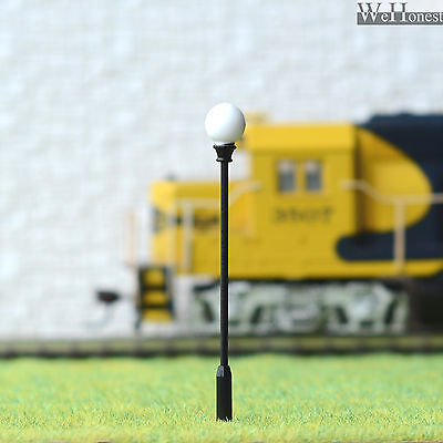 5 x Model Railway Train Lamp Post Street Lights HO OO Scale LEDs +Resistor #QF10