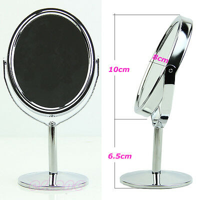 Ellipse Mini Beauté Maquillage Produit de beauté Recto-verso Normal+Stand Miroir