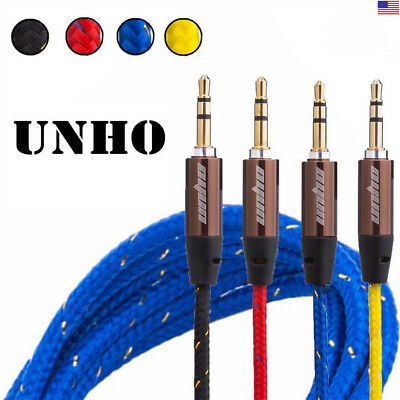 UNHO Heavy Duty 3.5mm to 3.5mm Jack Audio iPod Aux MP3 Car Earphone Cable Lead