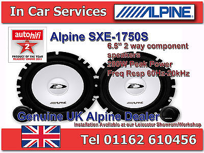 "Alpine SXE-1750S 6-1/2""(16.5cm) Component 2-Way Car Speaker Kit 280W PAIR"