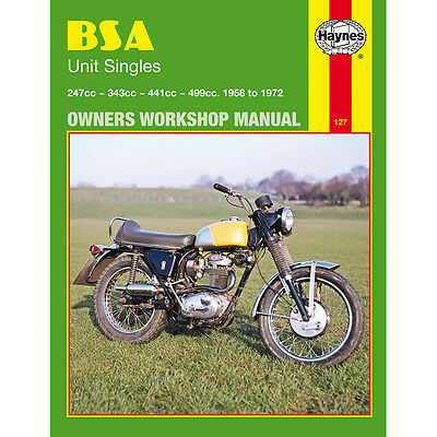 HAYNES MANUAL BSA B25 B40 B44 B50 Barracuda C15 C25 Gold Star Startfire Victor 1