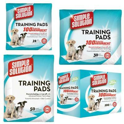 SIMPLE SOLUTION Absorbent Tough TRAINING PADS Puppy Dog Toilet Wee Mats 53x58cm