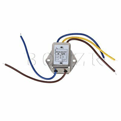 AC250V 10A Three Wires Power Supply Filter EMI Filter with Insulation Resistance