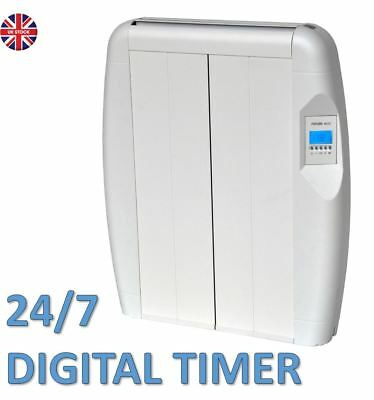 600W Slim Electric Panel Radiator Wall Mounted Heater Thermostat & Timer