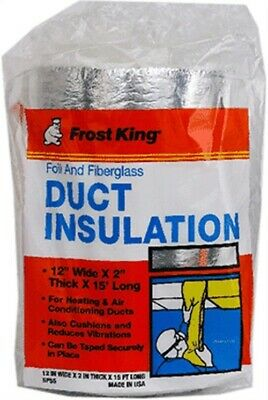 Foil and Fiberglass Duct Insulation by Thermwell Products