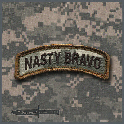"Hook & Loop backed ""Nasty Bravo"" ACU tab - 4-17 Infantry - 11B Infantry, Buffalo"