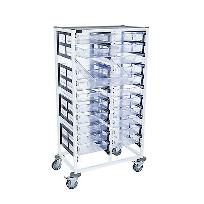 Double Column 12 Level A4 Medical Trolley