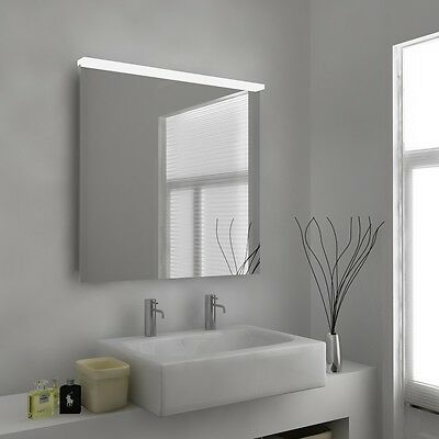 LED Illuminated Bathroom Mirror with Sensor, Shaver and Demister - Behira - c332