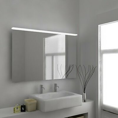 LED Illuminated Bathroom Mirror with Sensor, Shaver and Demister - Elani - c335
