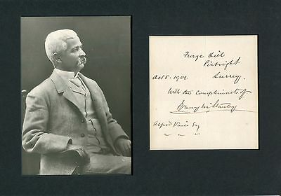 Henry Morton Stanley autographed note signed