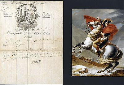 FRENCH REVOLUTION Napoleon I. autograph, signed document mounted