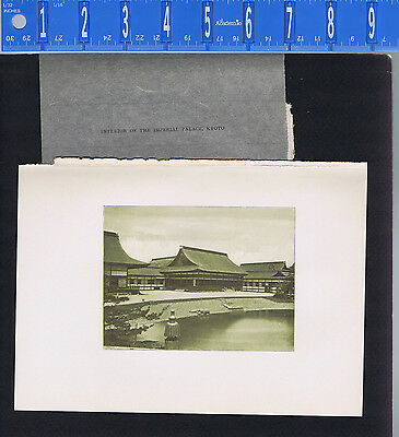 Interior of the Imperial Palace, KYOTO  - 1902 Japan Lithograph NICE