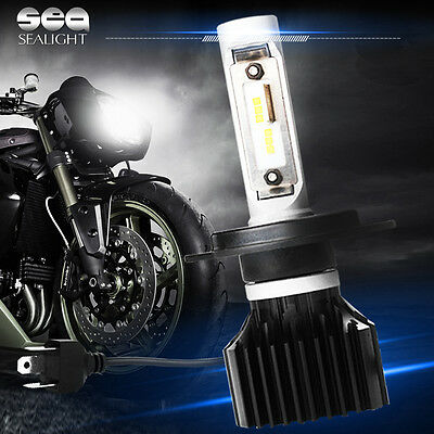 48W 6000LM Motorcycle LED Headlight Kit -H4 9003/HB2 6000K White Bulb Conversion
