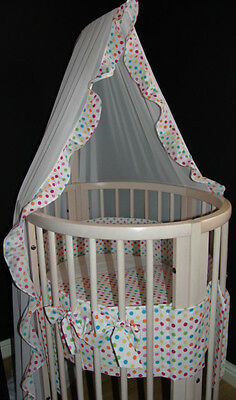 Canopy made to fit the Stokke Mini cot Bumper made to order
