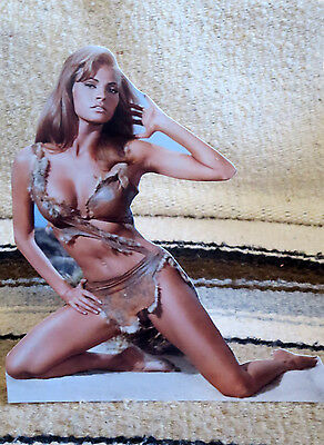 """Raquel Welch """"One Billion Years BC"""" 1966 Movie Tabletop Display Standee 8"""" Tall"""