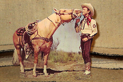 """Roy Rogers and Trigger """"King of the Cowboys"""" Figure Tabletop Display Standee 8"""""""