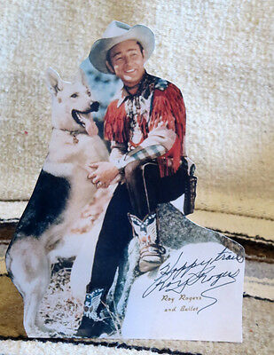 """Roy Rogers and Bullet """"King of the Cowboys"""" Figure Tabletop Display Standee 10"""""""