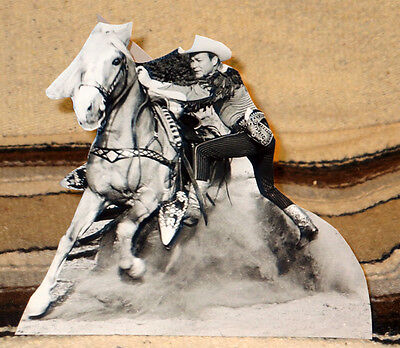 """Roy Rogers & Trigger """"King of the Cowboys"""" Figure Tabletop Display Standee 8"""""""