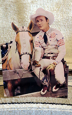 """Roy Rogers & Trigger """"King of the Cowboys"""" Figure Tabletop Display Standee 10"""""""