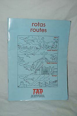 1970's TAP Route Map Portugal Airlines