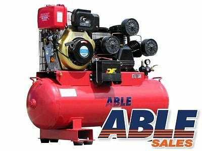 Air Compressor Diesel 11Hp 160 Litre 42Cfm 125Psi