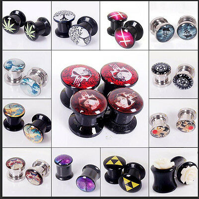 Women Men Acrylic Ear gauges Plugs Flesh Ear Tunnels Organic Ear Gauges Earrings