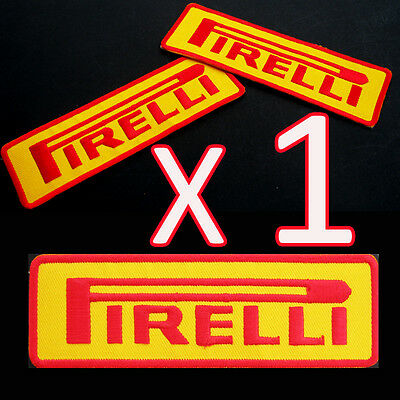 1 x PIRELLI Embroidered Iron On Patch Italy Rally Racing NASCAR MOTORSPORT SPORT