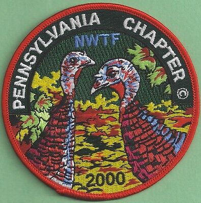 Pennsylvania Game Fish Commission PA Chapter NWTF 2000 ARTIST SIGNED Final Patch