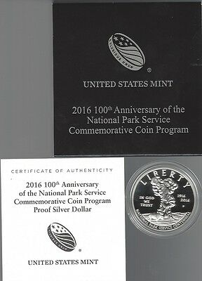 USA: Silber Dollar 2016, National Park Service, Proof, PP