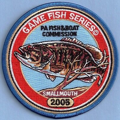 "Pa Pennsylvania Fish Commission Wilderness Edition 2005 Smallmouth Bass 4"" Patch"