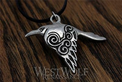 Celtic Raven Pendant -- Silver Crow - Norse/Viking/Medieval/Skyrim/Irish/Jewelry