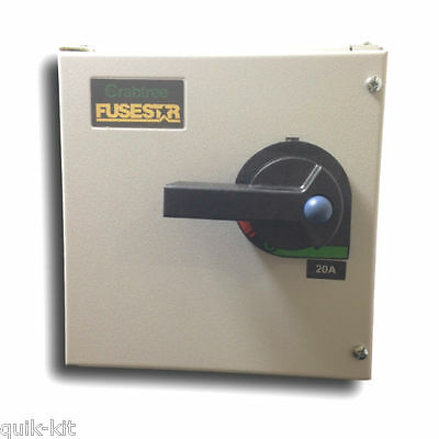 Crabtree 190203NF 'Fusestar' Fused Switch 3 Phase TP&N 20 Amp