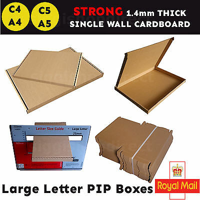A4 C4 A5 C5 Royal Mail Large Letter Box PIP Postal Shipping Cardboard Boxes