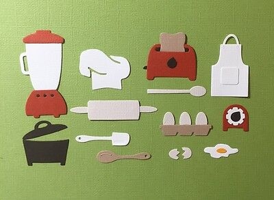 13 Kitchen Cooking Die Cut Set Embellishments Fully Assembled Scrapbooking