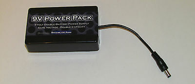 Guitar Effect Pedal Double Battery Pack 9-Volt Lasts TWICE as Long Plug-In 9VPP
