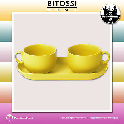 BITOSSI HOME. BIS Set 2 Tazze colazione e vassoio | Set 2 Breakfast cup and tray