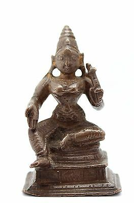 antique 10-13th C. small Indo Javanese bronze statuette Hindu deity Parvati