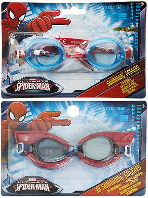 Boys Kids Marvel Avengers Spiderman Blue Swimming Glasses Goggles Age 3+