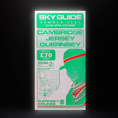 Guernsey Airlines - Skyguide Sommer 1987 - Werbe Flieger