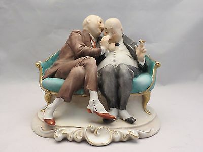 Vintage Capodimonte Figure The Gossips Giuseppe Cappe For Marshall Fields Signed