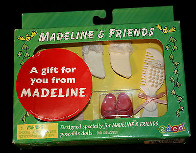 """Madeline 7 1/2"""" -8"""" Doll Accessories Set Brush Comb Socks & 2 pairs of Shoes NIB"""