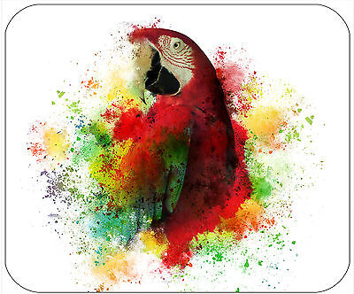 Mouse Pad Personalized Custom Thick Mousepad-Colorful Parrot-Add Text