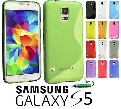 Gel Silicone Case TPU Cover For Samsung Galaxy S5 SV i9600 Free Screen Protector