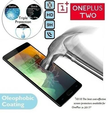 100% Genuine Tempered Glass Screen Protector 1+ One Plus 2 A2001 for OnePlus Two