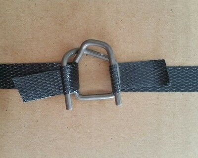 """Steel Wire Buckles B-4A for 1/2"""" Polypropylene Strapping - 60 pieces"""
