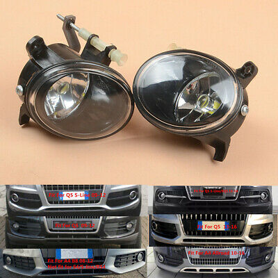 A Pair of Front LED Fog Lights Lamps For AUDI A4 S4 B8 A4 Allroad A5 S5 Q5 A6 S6