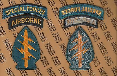 US Army Special Forces Group Airborne SFGA SF Tab Dress patch m/e set