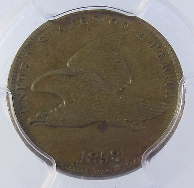 1858 Flying Eagle Cent Small Letters : PCGS XF40